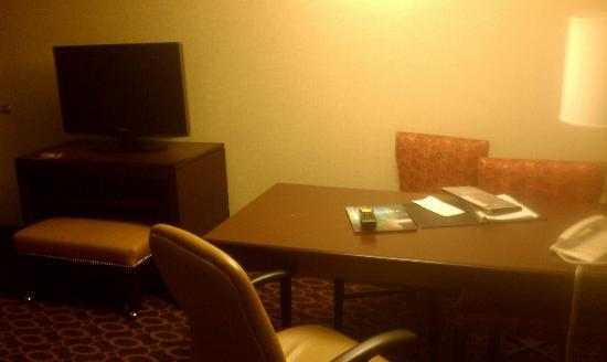 Embassy Suites by Hilton Charlotte: desk in our room