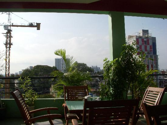 Green Suites Hotel: the rooftop patio