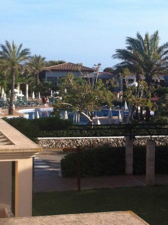 Zafiro Menorca: View from our room 2107 of the pool area