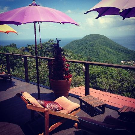 Tendacayou Ecolodge & Spa : Terrasse du Spa