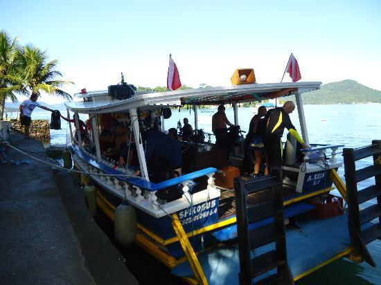 Pousada Jamanta: el barco de buceo!!!!