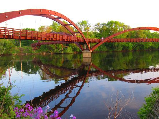 Midland, MI: The Tridge, right behind hotel