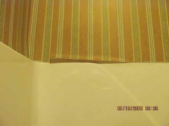 Comfort Suites: more shower area wallpaper peeling