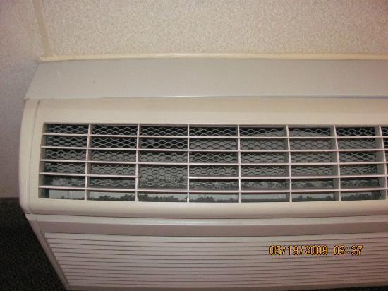 Comfort Suites: HVAC grill damage
