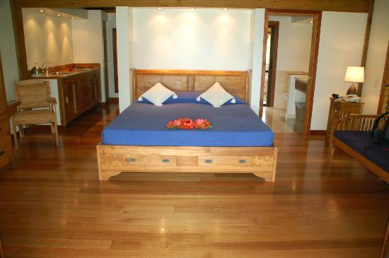 Etu Moana: The bed in our room.