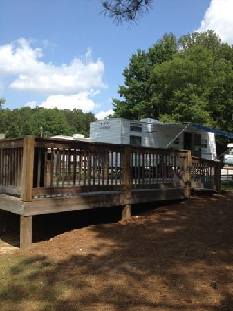 Stone Mountain Family Campground: all setup in site 163A