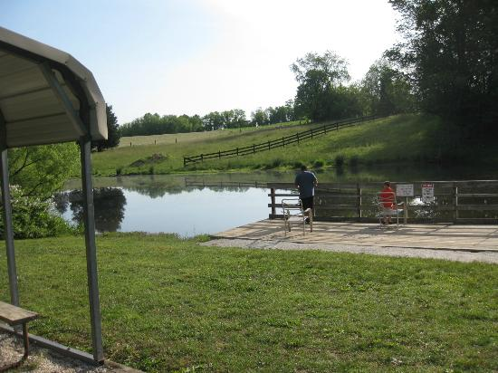 Ramblin Pines Campground: fishing pond