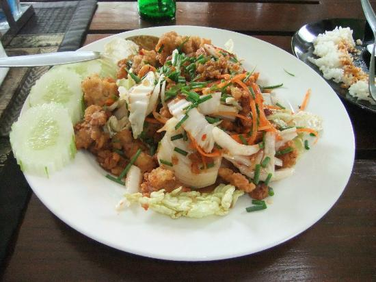 Larn Deo: Deep Fried Pork with Spicy Salad