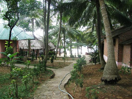 Hoa Nhat Lan Bungalow: pathway to the beach