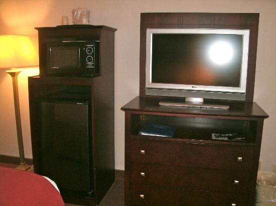 Holiday Inn Express Atlanta W (I-20) Douglasville: TV, microwave, and refrigerator area