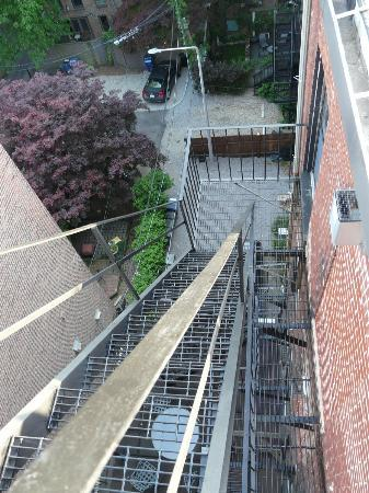 The Boston Christopher: Stairs to rooftop.  If you are afraid of heights beware!