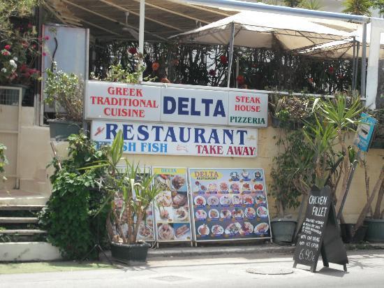 Delta Restaurant: The restaurant from outside!