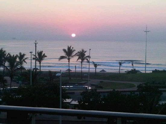 Sunrise from Durban Spa