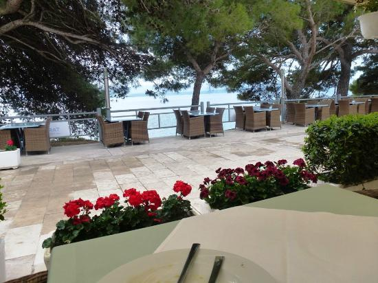 Zlatni Rat Beach Hotel : View from breakfast area