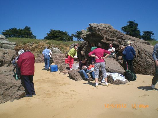 Village Oceane : pique-nique chaud plage des Vieilles