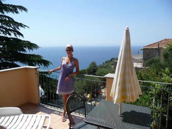 Albergo Rosita: Terrasse am Zimmer