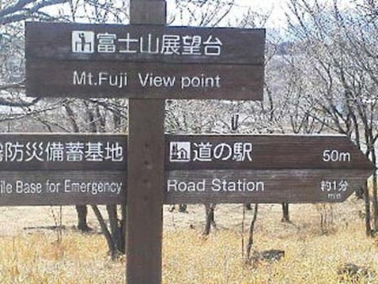 Asagiri Plateau : 展望台といっても階段でちょこっと