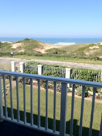 The Beach House: View from balcony outside room