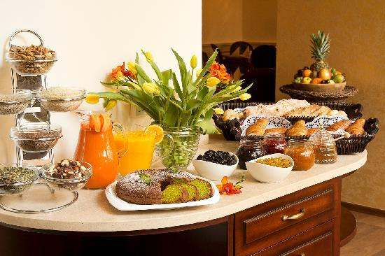 Buffet breafast at Boutique hotel Seven Days Prague