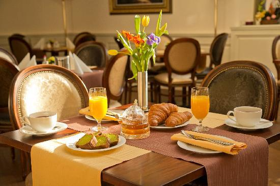 Breafast at Boutique hotel Seven Days Prague