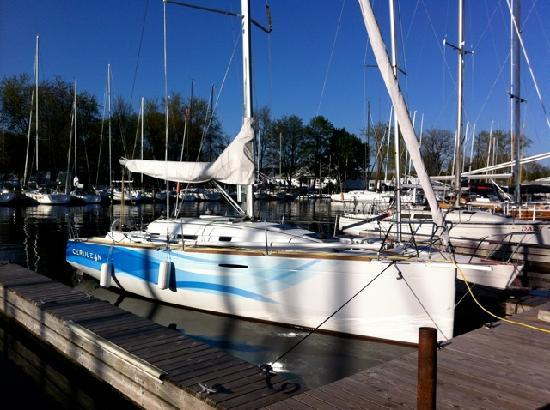 Cerulean Adventures Sailing Yacht Charters: Cerulean at dock