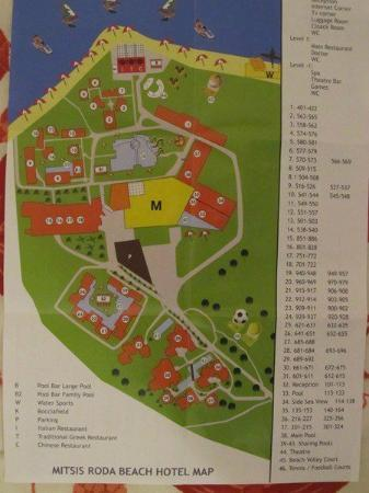 Karousades, Grecja: Map of the hotel complex