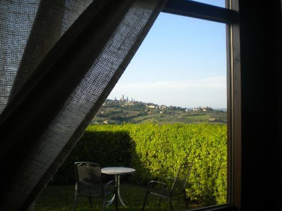 Agriturismo Il Casolare di Bucciano: vista dalla porta-finestra della nostra camera