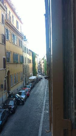Hotel Artorius: view down the street from room