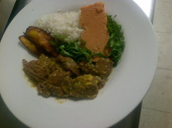 Curried goat and moi moi picture of african continental for About continental cuisine