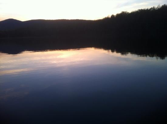 sunset over noyes pond aside seyon lodge