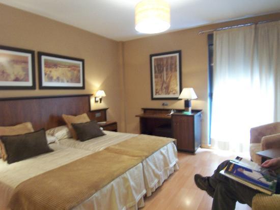 Hotel Estrella Albatros: Habitacion con buena iluminaciòn.