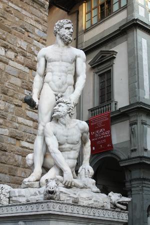 hercules and cacus picture of piazza della signoria