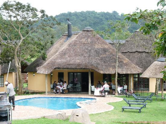 iNtaba River Lodge: Dining area where our tea was served
