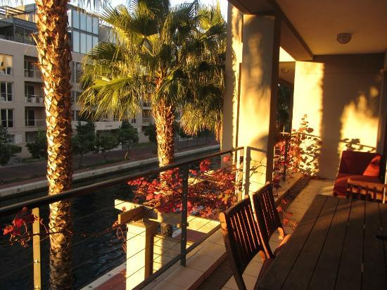 Atlantic Marina Waterfront Apartments: balcony, sunset