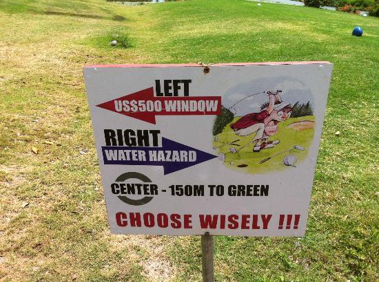 St. Lucia Golf Club: Choose wisely!