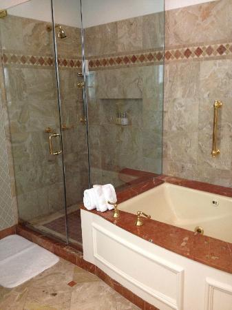 Rosewood Mansion on Turtle Creek: seperate shower and tub