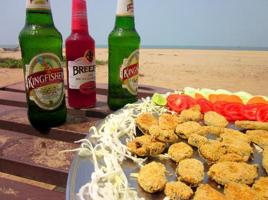 Agonda Paradise: A lazy day with Beer and Fried Kingfish
