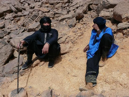 Bachir Hafach and Liden, Toureg guides, Tassili n'Ajjer National Park