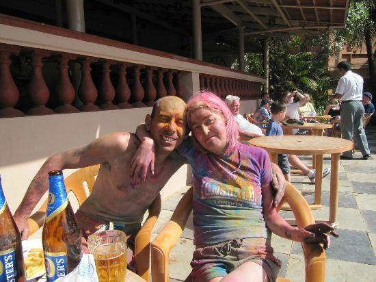 Whispering Palms Beach Resort: holi celebration good day