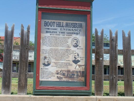 Dodge City, KS: Sign for Museum at Boot Hill