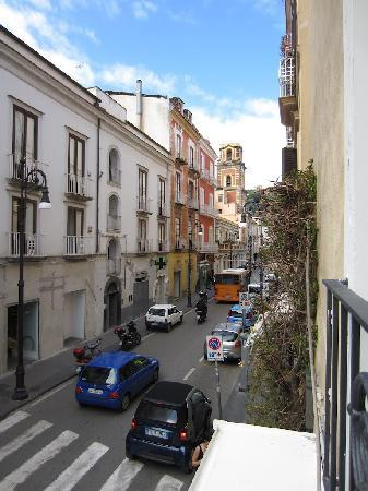 Palazzo Montefusco Sorrento: View from first floor suite down the street.