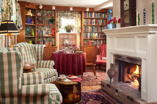 Enjoy tea by the fire every afternoon at the Inn at Weston!