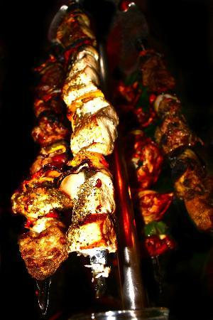 Zoo Rock Cafe: Gros plan brochettes