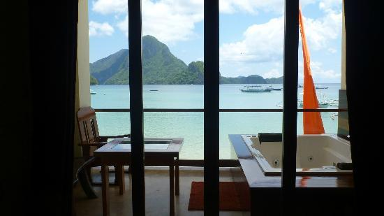 El Nido Waterfront Hotel: view from room 1