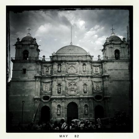 Cathedral of Oaxaca: One of my first attempts at black and white