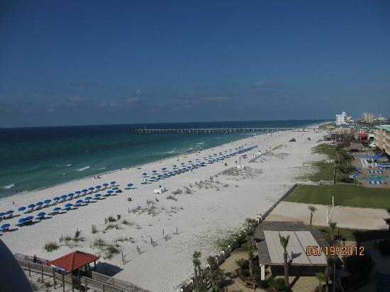 Hilton Pensacola Beach: View from the 6th floor tower balcony.