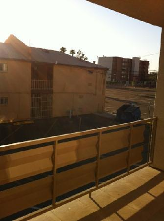 Rodeway Inn Downtown Phoenix: view from the private balcony room 210.