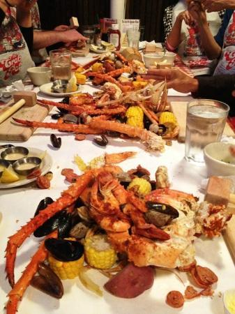 After big meal picture of the crab pot seafood for Fish restaurant seattle