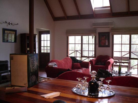 Manzanilla Ridge: Living room (mess is all our stuff!)