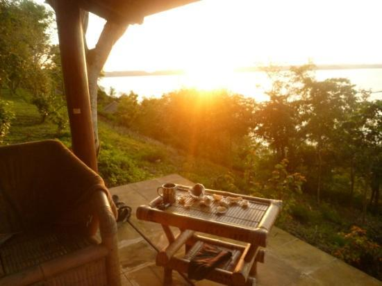 Heaven On The Planet: Sunset from our chalet overlooking Ekkas Bay